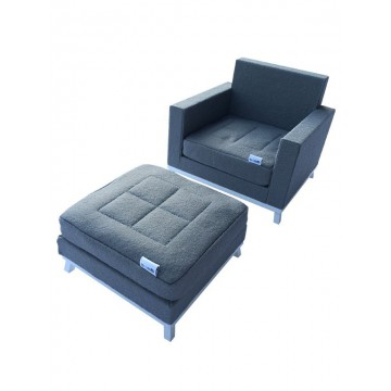 armchair + footrest