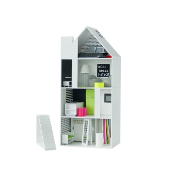 dollhouse Boomini White with furniture