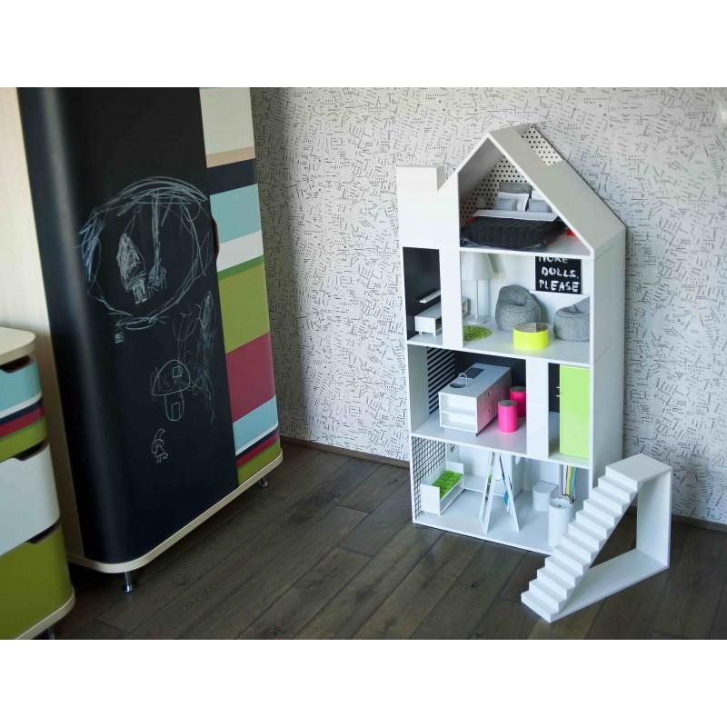 ... Dollhouse Boomini White With Furniture