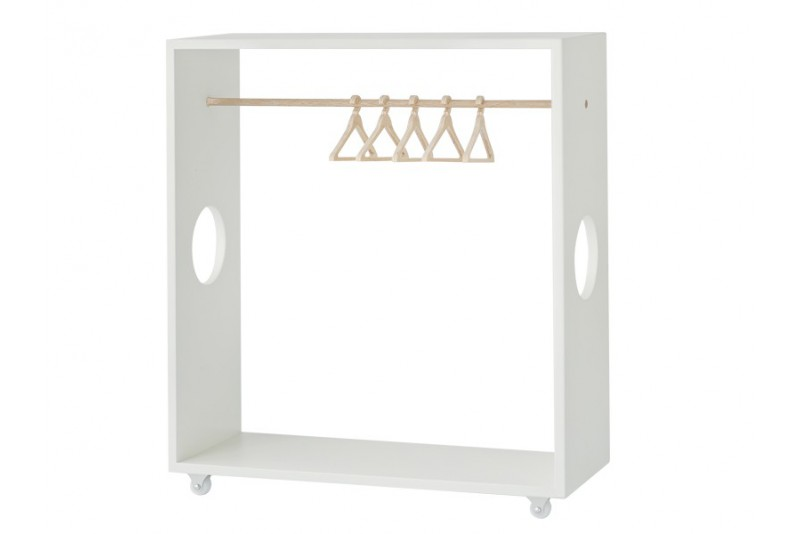 wardrobe with hangers