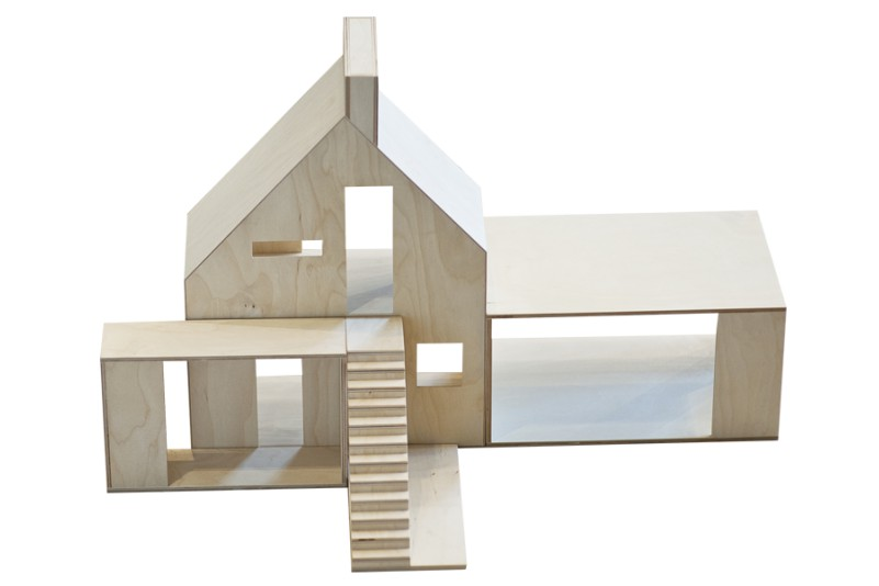 dollhouse WOOD, 5 separately elements