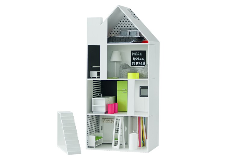 dollhouse Boomini White with furniture